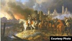 «Наполеон у Москві», художник Альбрехт Адам, 1841