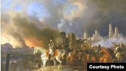 Наполеон в Москве. Альбрехт Адам.