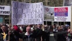 Protest u Beogradu: Život prođe, penzija ne dođe