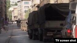 Kamioni JNA u Dobrovoljačkoj 3. maja 2016.