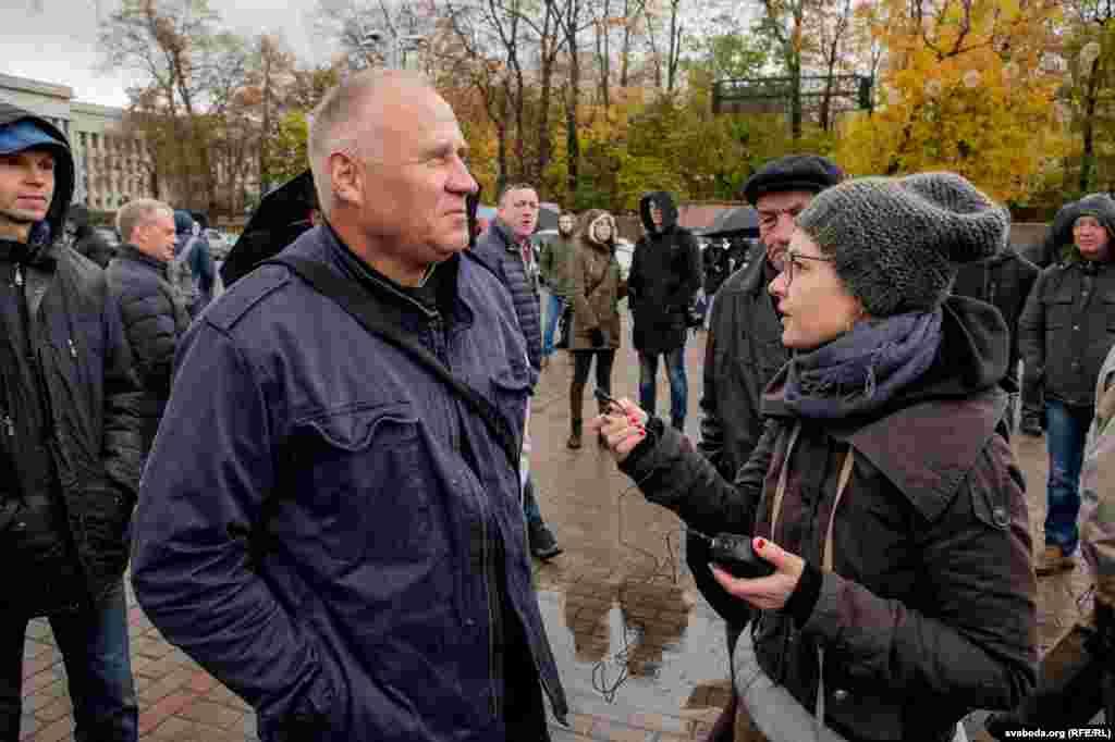 Белорусский оппозиционер Николай Статкевич, инициатор протестного шествия.