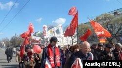 Первомайская демонстрация в Омске