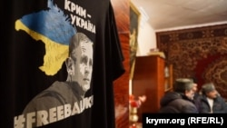 Activists visit Volodymyr Baluch's mother on his birthday on February 8.