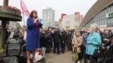 Belarus, Protest near Kamarouka