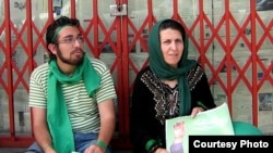 Parvin Fahimi (right) with her son Iran Sohrab Arabi, who was killed during post-election unrest in Tehran in 2009.
