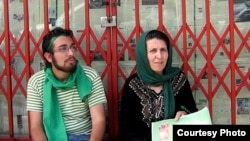 Sohrab Arabi with his mother, Parvin Fahimi, campaigning for Mir Hossein Musavi before Arabi was killed under unclear circumstances during the postelection crackdown by authorities.