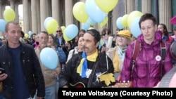Участники Марша мира в Петербурге 27 сентября 2015 г