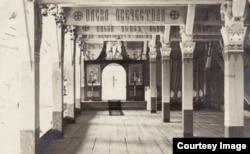 Capela ortodoxă din lagărul Dänholm-Stralsund (Foto: Expoziția Marele Război, 1914-1918, Muzeul Național de Istorie a României)