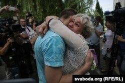 Андрэй Гаўрош з маці