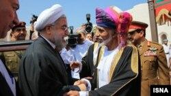 حسن روحانی رئیس جمهور ایران و سلطان قابوس