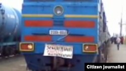 Жаңаөзен оқиғасына байланысты Шетпе тұрғындары пойыз тоқтатты. Шетпе стансасы. 17 желтоқсан 2011 жыл.