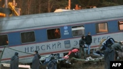 "Chechen rebels claimed responsibility for the ""Nevsky Express"" bombing, which killed 26 people."