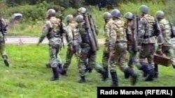 Russia/Ingushetia -- There are fights in the Sunzha mountains, Sunzha region, 2012