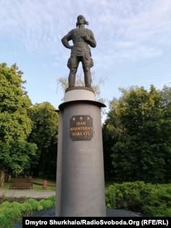 Пам'ятник українському льотчику Івана Кожедубу в Сумах
