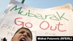 Sarajevo: Skup podrške demonstrantima u Egiptu
