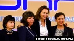 Валентина Сиропуло, Валя Червеняшка, Сесилия Саркози и Кристияна Вълчева (отляво надясно)