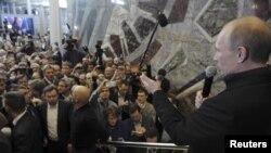 Владимир Путин обращается к своим сторонникам. 4 марта 2012 г
