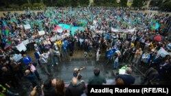 Ադրբեջան - Ընդդիմության հանրահավաք Բաքվում, արխիվ