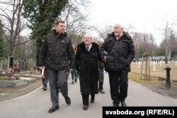Айцец Андрусь Абламейка, Івонка Сурвіла і Сяргей Навумчык