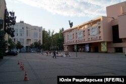 Площа біля театру імені Шевченка в Дніпрі, 15 липня 2020 року