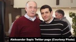 Fotografija Veselina Šljivančanina i Aleksandra Šapića sa Šapićevog Twitter naloga