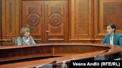 Maja Pavlović na sastanku sa Anom Brnabić u Vladi Srbije