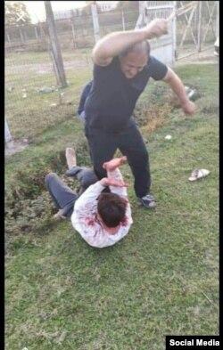 Снимок избиения