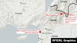 Су-24 кыйраган чек ара тилкеси