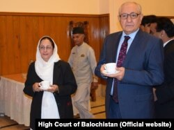 د بلوچستان ګورنر محمد خان اڅکزی او د بلوچستان های کورټ نوې مشره سیده طاهره صفدر
