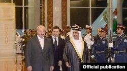 Аляксандар Лукашэнка ў Арабскіх Эміратах. Архіўнае фота.