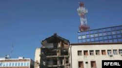 Zgrada RTS posle bombardovanja