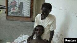 Больной холерой в госпитале. Гаити. 22 октября 2010 года