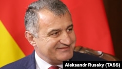 """The leader of Georgia's breakaway region of South Ossetia, Anatoly Bibilov, said he was ready to step down as leader if """"people are demanding my resignation."""" (file photo)"""