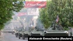 Пророссийские группировки репетируют «парад» ко Дню победы в Донецке