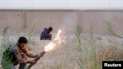 Бойцы Свободной сирийской армии, город Ракка 18 октября