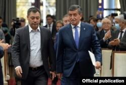 Садыр Жапаров и Сооронбай Жээнбеков в госрезиденции «Ала-Арча».