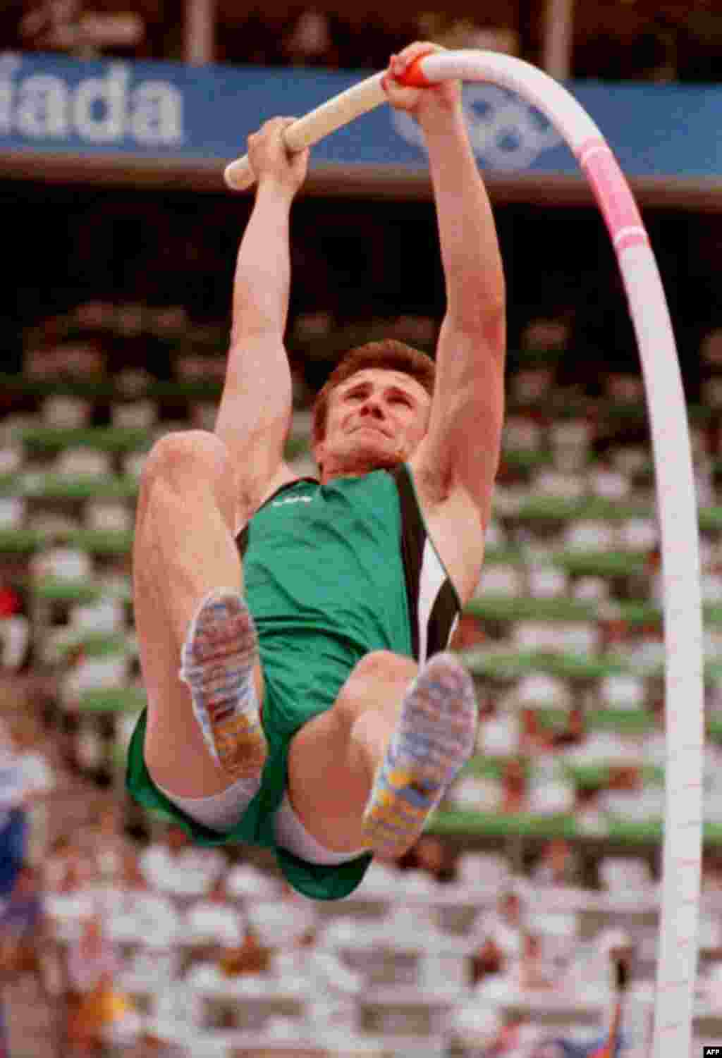 """Ukrainian pole vaulter Sergei Bubka dominated the sport for more than a decade, winning six consecutive world titles. However, he famously suffered from an """"Olympics curse,"""" winning only one gold medal (for the Soviet Union in Seoul in 1988)."""