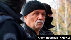 Асан Чапух під час затримання в Сімферополі, 23 листопада 2017 року