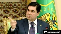 "Turkmenistan President Gurbanguly Berdymukhammedov at a State Security Meeting in Ashgabat on March 29: ""There's the door!"""
