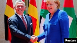 Angela Merkel kral Abdullahla iyunun 21-də Əmmanda görüşüb