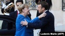 Kancelarja gjermane, Angela Merkel dhe presidenti francez, Emmanuel Macron
