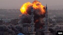 Гранатирање на Појасот Газа.
