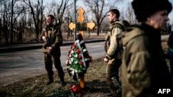Пророссийские вооруженные сепаратисты в Донецке. Март 2015 года