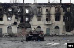 Ukraynanın şərqindəki Vuhlehirsk şəhəri.