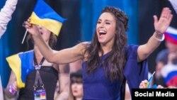 Eurovision жеңімпазы Жамаланың финалға шыққан сәті. Швеция, Стокгольм, 13 мамыр 2016 жыл.