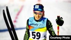 Қазақстандық шаңғышы Анна Шевченко Универсиада жарысында.