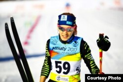 Казахстанская лыжница Анна Шевченко на Универсиаде.