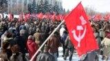 Comuniștii protestînd la Chișinău împotriva... Uniunii Europene