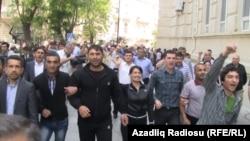 Протестная акция азербайджанской оппозиции в центре Баку, 7 мая 2012
