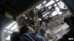 Наслідки обстрілу на Донбасі, ілюстративне фото